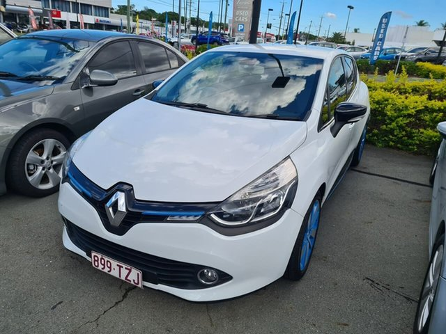 Used Renault Clio IV B98 Dynamique EDC Mount Gravatt, 2013 Renault Clio IV B98 Dynamique EDC White 6 Speed Sports Automatic Dual Clutch Hatchback