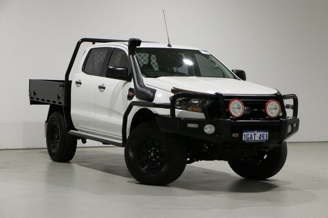 Used Ford Ranger PX MkII XL 3.2 (4x4) Bentley, 2016 Ford Ranger PX MkII XL 3.2 (4x4) White 6 Speed Automatic Crew Cab Chassis