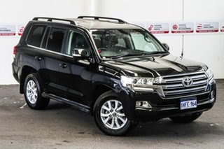 2017 Toyota Landcruiser VDJ200R MY16 VX (4x4) Eclipse Black 6 Speed Automatic Wagon.