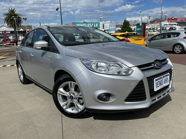 Used Ford Focus LW MK2 MY14 Trend Victoria Park, 2014 Ford Focus LW MK2 MY14 Trend Silver 6 Speed Automatic Sedan