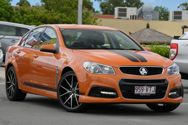 Used Holden Commodore VF MY14 SV6 Aspley, 2014 Holden Commodore VF MY14 SV6 Orange 6 Speed Sports Automatic Sedan