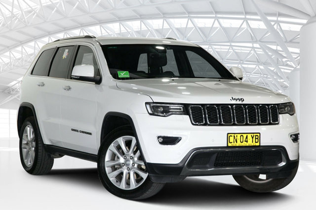 Used Jeep Grand Cherokee WK MY18 Limited (4x4) Moorebank, 2017 Jeep Grand Cherokee WK MY18 Limited (4x4) White 8 Speed Automatic Wagon