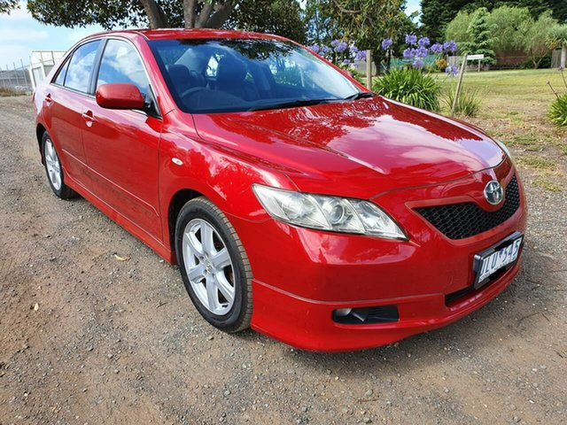Used Toyota Camry ACV40R Sportivo Geelong, 2007 Toyota Camry ACV40R Sportivo Red 5 Speed Automatic Sedan