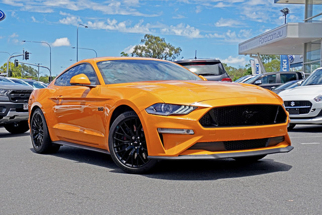 Used Ford Mustang FN 2019MY GT Ebbw Vale, 2018 Ford Mustang FN 2019MY GT Orange 6 Speed Manual Fastback
