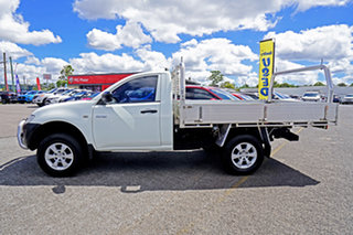 2012 Mitsubishi Triton MN MY13 GL 4x2 White 5 Speed Manual Cab Chassis