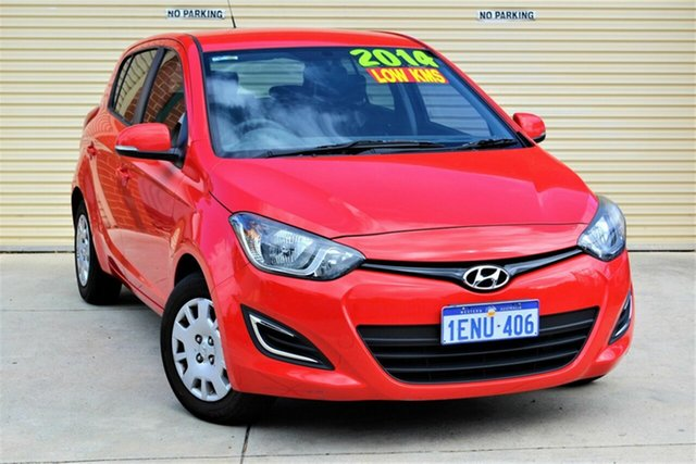 Used Hyundai i20 PB MY14 Active Mount Lawley, 2014 Hyundai i20 PB MY14 Active Red 4 Speed Automatic Hatchback