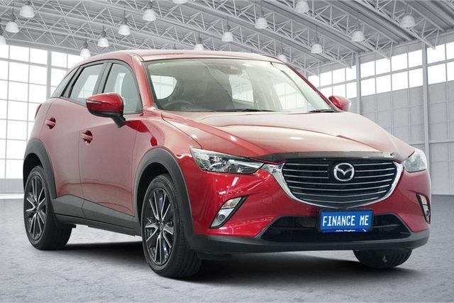 Used Mazda CX-3 DK2W7A sTouring SKYACTIV-Drive Victoria Park, 2017 Mazda CX-3 DK2W7A sTouring SKYACTIV-Drive Burgundy 6 Speed Sports Automatic Wagon