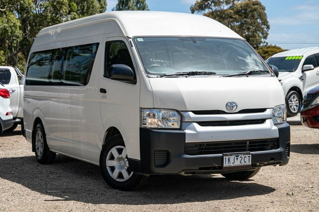Used Toyota HiAce TRH223R Commuter High Roof Super LWB Mornington, 2015 Toyota HiAce TRH223R Commuter High Roof Super LWB White 6 Speed Automatic Bus