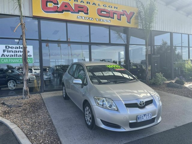 Used Toyota Corolla ZRE152R Ascent Traralgon, 2007 Toyota Corolla ZRE152R Ascent Silver 4 Speed Automatic Hatchback