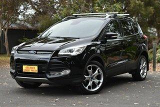 2016 Ford Kuga TF MY16.5 Titanium PwrShift AWD Black 6 Speed Sports Automatic Dual Clutch Wagon.