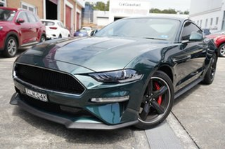 2018 Ford Mustang FN 2019MY BULLITT Green 6 Speed Manual Fastback.