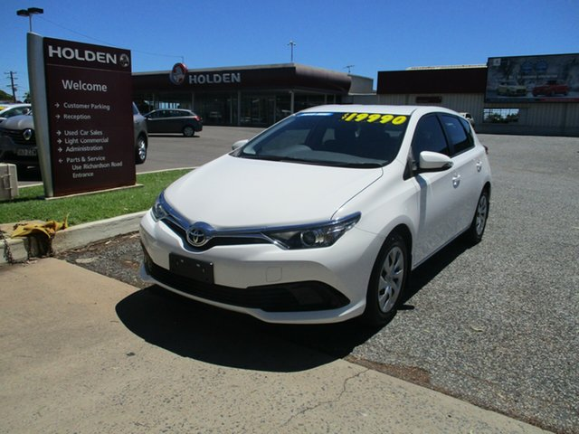 Used Toyota Corolla ZRE182R Ascent S-CVT North Rockhampton, 2015 Toyota Corolla ZRE182R Ascent S-CVT White 7 Speed Constant Variable Hatchback