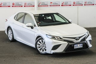 2018 Toyota Camry ASV70R Ascent Sport Frosted White 6 Speed Sports Automatic Sedan.