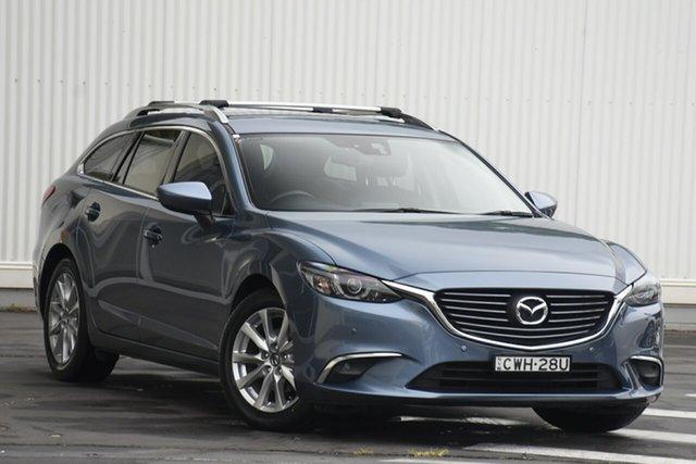 Used Mazda 6 GJ1031 MY14 Touring SKYACTIV-Drive Wollongong, 2014 Mazda 6 GJ1031 MY14 Touring SKYACTIV-Drive Blue 6 Speed Sports Automatic Wagon