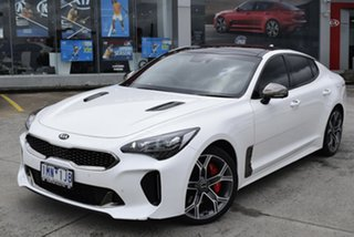 2017 Kia Stinger CK MY18 GT Fastback White 8 Speed Sports Automatic Sedan