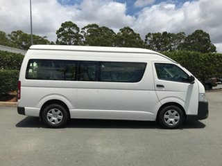 2015 Toyota HiAce KDH223R Commuter High Roof Super LWB French Vanilla 4 speed Automatic Bus