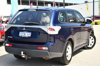 2013 Mitsubishi Outlander ZJ MY13 ES 4WD Blue 6 Speed Constant Variable Wagon.