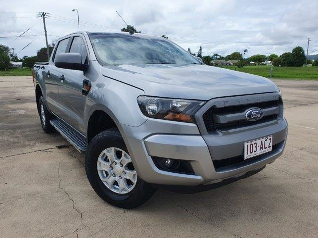 Used Ford Ranger PX MkII XLS Double Cab Townsville, 2016 Ford Ranger PX MkII XLS Double Cab Aluminium 6 Speed Manual Utility