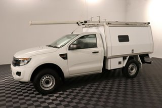 2014 Ford Ranger PX XL Hi-Rider Cool White 6 speed Manual Cab Chassis