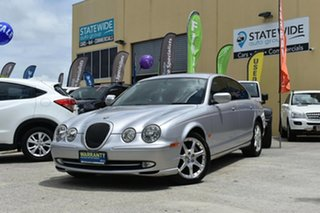 2002 Jaguar S-Type V6 SE Silver 5 Speed Automatic Sedan.