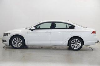 2018 Volkswagen Passat 3C (B8) MY18 132TSI DSG Comfortline Pure White 7 Speed.