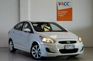 2018 Hyundai Accent RB6 MY19 Sport White 6 Speed Sports Automatic Sedan.