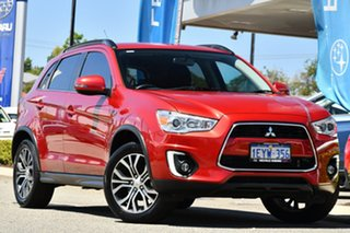 2016 Mitsubishi ASX XB MY15.5 LS 2WD Red/Black 6 Speed Constant Variable Wagon.