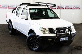 2010 Nissan Navara D40 ST (4x4) White 5 Speed Automatic Dual Cab Pick-up.