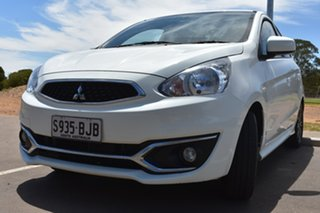 2016 Mitsubishi Mirage LA MY17 LS White 1 Speed Constant Variable Hatchback