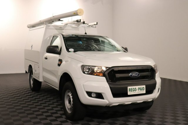 Used Ford Ranger PX MkII XL Hi-Rider Acacia Ridge, 2016 Ford Ranger PX MkII XL Hi-Rider Cool White 6 speed Automatic Cab Chassis