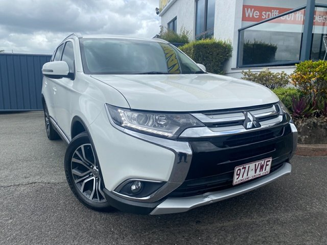 Used Mitsubishi Outlander ZJ MY14.5 LS 2WD Slacks Creek, 2015 Mitsubishi Outlander ZJ MY14.5 LS 2WD White 6 Speed Constant Variable Wagon