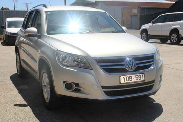 Used Volkswagen Tiguan 5NC MY11 125 TSI West Footscray, 2011 Volkswagen Tiguan 5NC MY11 125 TSI Silver 7 Speed Auto Direct Shift Wagon