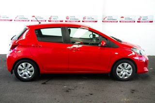 2014 Toyota Yaris NCP130R Ascent Cherry 4 Speed Automatic Hatchback