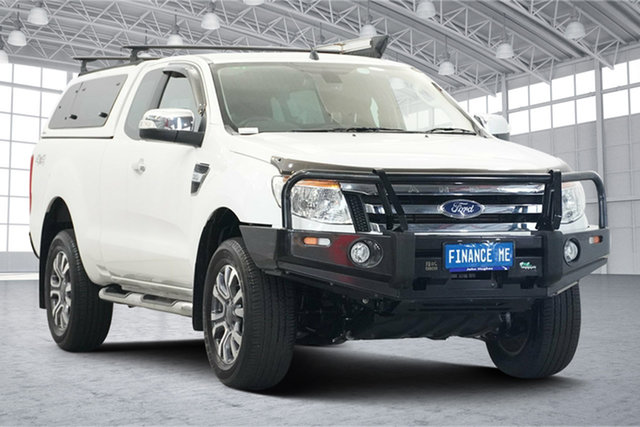 Used Ford Ranger PX XLT Super Cab Victoria Park, 2015 Ford Ranger PX XLT Super Cab White 6 Speed Sports Automatic Utility