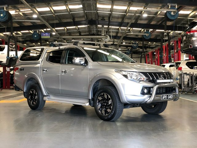 Pre-Owned Mitsubishi Triton MQ MY17 Exceed Double Cab Oakleigh, 2017 Mitsubishi Triton MQ MY17 Exceed Double Cab Silver 5 Speed Sports Automatic Utility