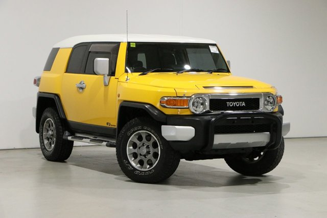 Used Toyota FJ Cruiser GSJ15R Bentley, 2011 Toyota FJ Cruiser GSJ15R Yellow 5 Speed Automatic Wagon