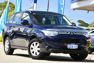 2013 Mitsubishi Outlander ZJ MY13 ES 4WD Blue 6 Speed Constant Variable Wagon.