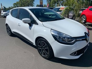 2013 Renault Clio IV B98 Expression EDC White 6 Speed Sports Automatic Dual Clutch Hatchback