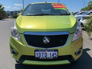 2011 Holden Barina Spark MJ MY11 CD Green 5 Speed Manual Hatchback