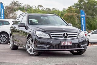 2014 Mercedes-Benz C-Class W204 MY14 C200 Estate 7G-Tronic + Black 7 Speed Sports Automatic Wagon.