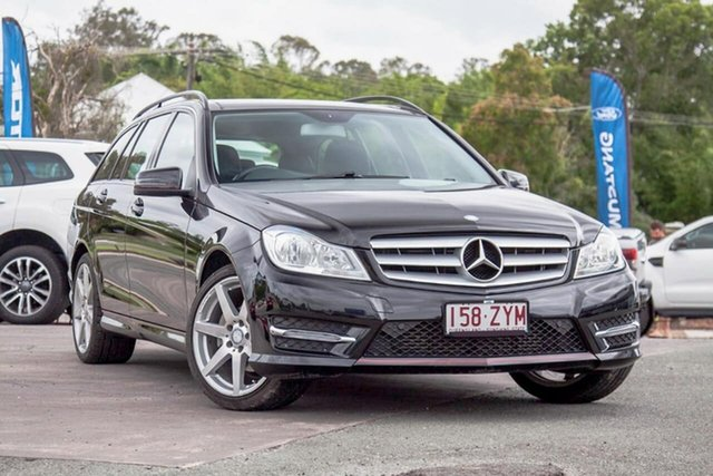 Used Mercedes-Benz C-Class W204 MY14 C200 Estate 7G-Tronic + Gympie, 2014 Mercedes-Benz C-Class W204 MY14 C200 Estate 7G-Tronic + Black 7 Speed Sports Automatic Wagon