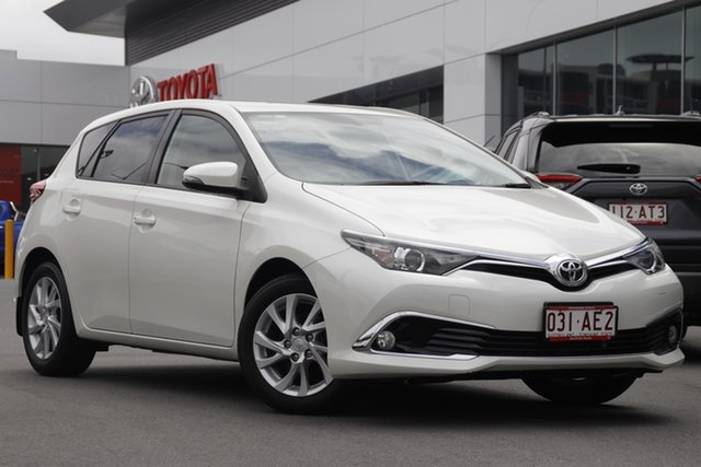 Pre-Owned Toyota Corolla ZRE182R Ascent Sport S-CVT Woolloongabba, 2017 Toyota Corolla ZRE182R Ascent Sport S-CVT Crystal Pearl 7 Speed Constant Variable Hatchback
