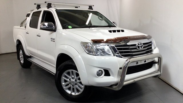 Used Toyota Hilux KUN26R MY14 SR5 Double Cab Elizabeth, 2014 Toyota Hilux KUN26R MY14 SR5 Double Cab White 5 Speed Automatic Utility