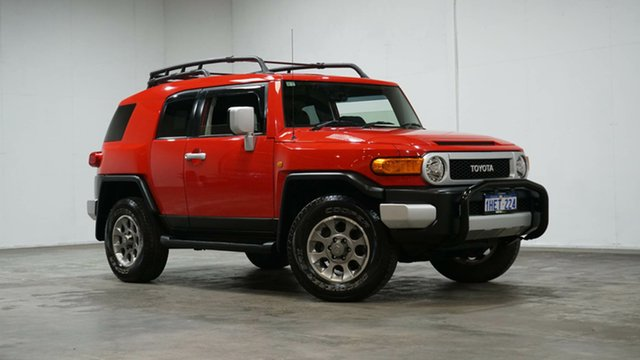 Used Toyota FJ Cruiser GSJ15R Welshpool, 2012 Toyota FJ Cruiser GSJ15R Red 5 Speed Automatic Wagon