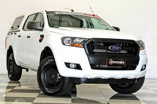 Used Ford Ranger PX MkII MY18 XL 3.2 (4x4) Burleigh Heads, 2017 Ford Ranger PX MkII MY18 XL 3.2 (4x4) White 6 Speed Automatic Crew Cab Utility