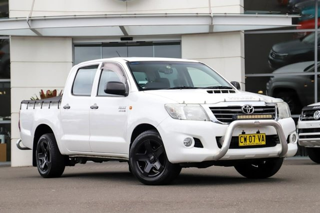 Used Toyota Hilux KUN16R MY12 SR Double Cab 4x2 Sutherland, 2011 Toyota Hilux KUN16R MY12 SR Double Cab 4x2 White 5 Speed Manual Utility