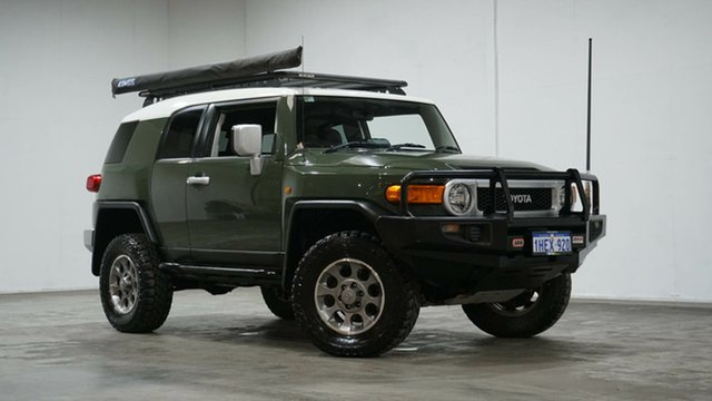 Used Toyota FJ Cruiser GSJ15R Welshpool, 2013 Toyota FJ Cruiser GSJ15R Green 5 Speed Automatic Wagon