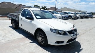 2009 Ford Falcon FG Ute Super Cab White 4 Speed Sports Automatic Utility.