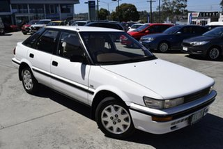 1989 Toyota Corolla AE92 CSX Seca White 5 Speed Manual Liftback.