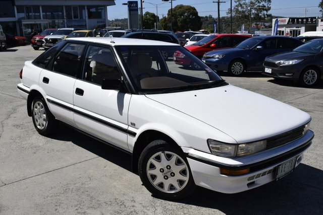 Used Toyota Corolla AE92 CSX Seca Ferntree Gully, 1989 Toyota Corolla AE92 CSX Seca White 5 Speed Manual Liftback